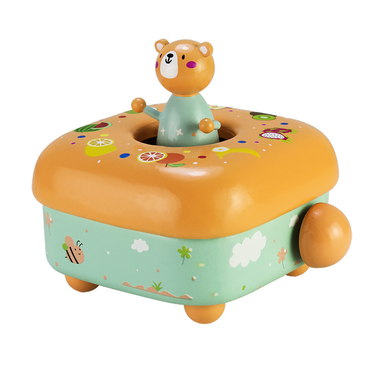 Wooden Children music box 55803401-04