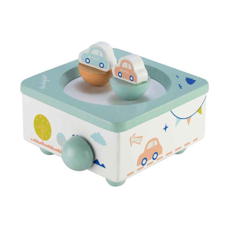 Wooden Children Spinning Music box toys 55803301S-04