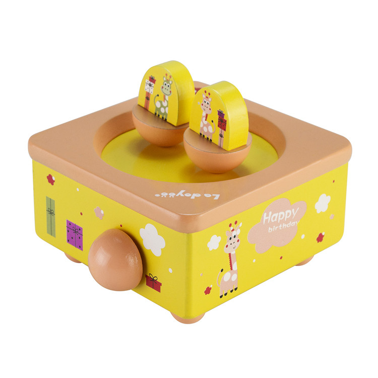 Wooden Children spinning music box toys 55803301S-05