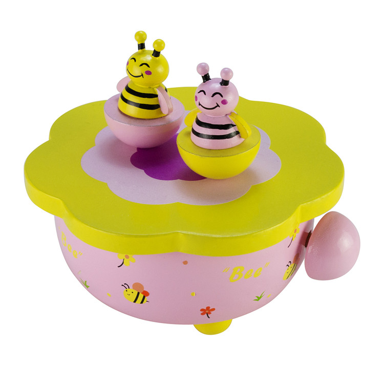Wooden Children Dancing Music Box Toys 55803301F-04