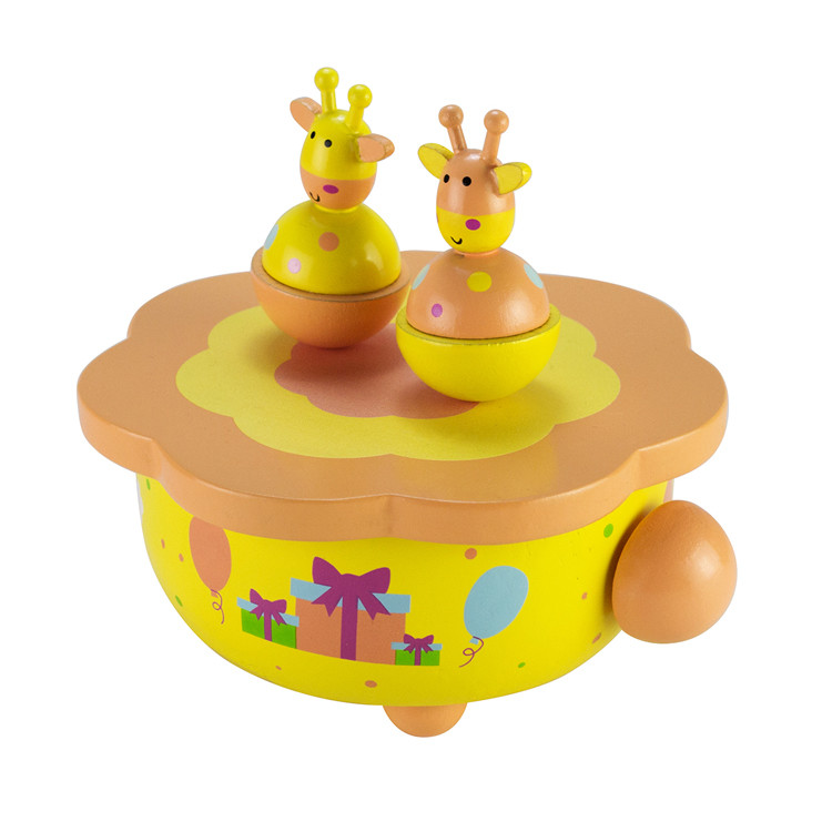 Wooden Children Dancing Music Box Toys
