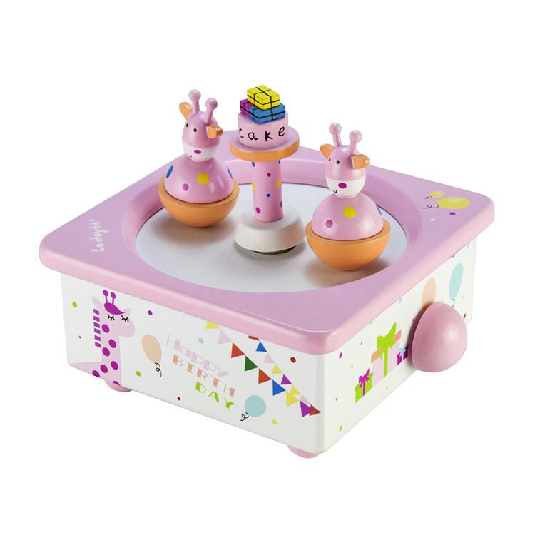 Wooden Children Center Spinning 2 Dolls Dancing Music Box 55803301C-01