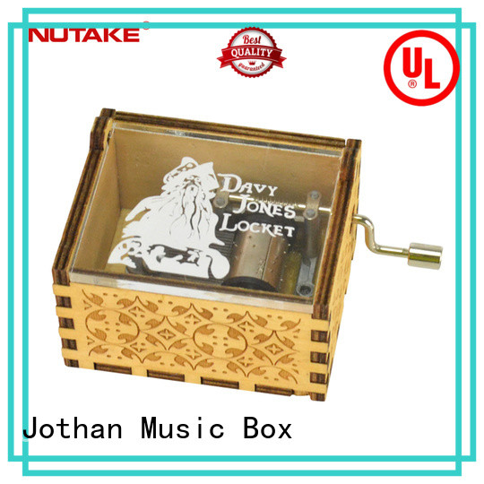 NUTAKE miniature hand crank music box factory top rated