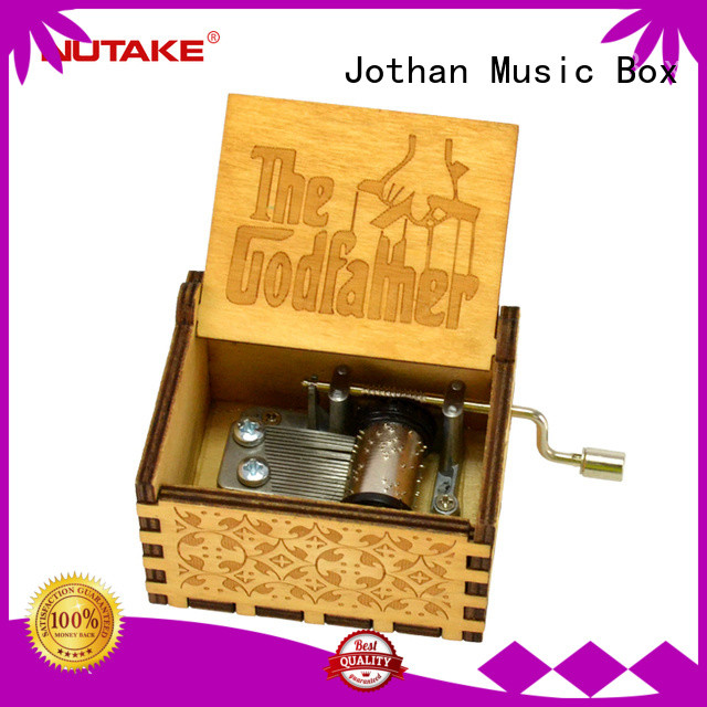 NUTAKE Best wooden hand crank music box Supply Purchase