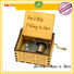 New wooden hand crank music box Supply manufacturing site
