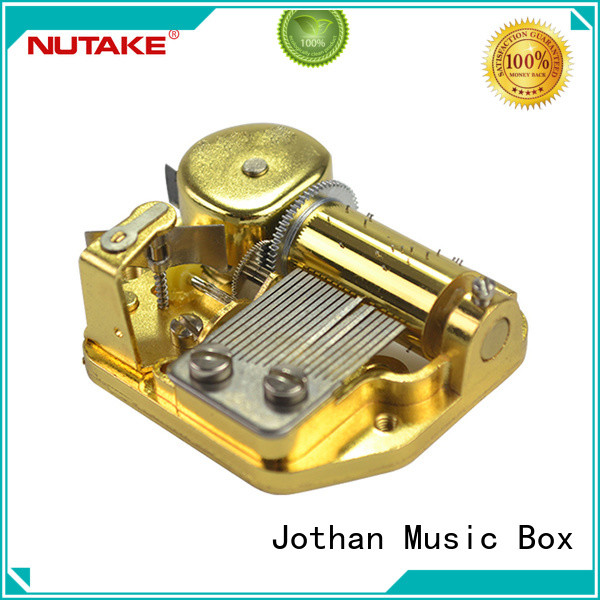 NUTAKE shaft antique wind up music box for business bulk production