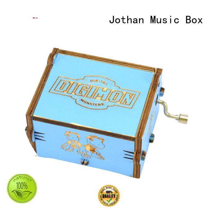 Wholesale hand crank wooden music box company bulk production