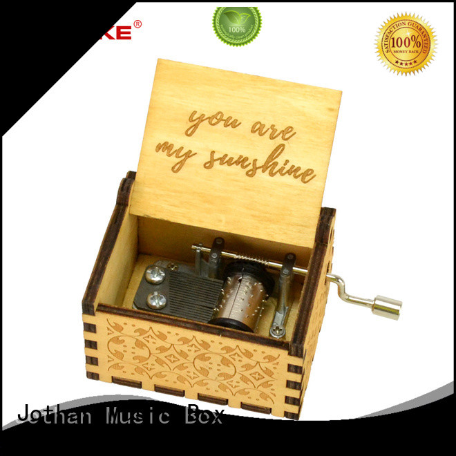Latest large hand crank music box company best rated